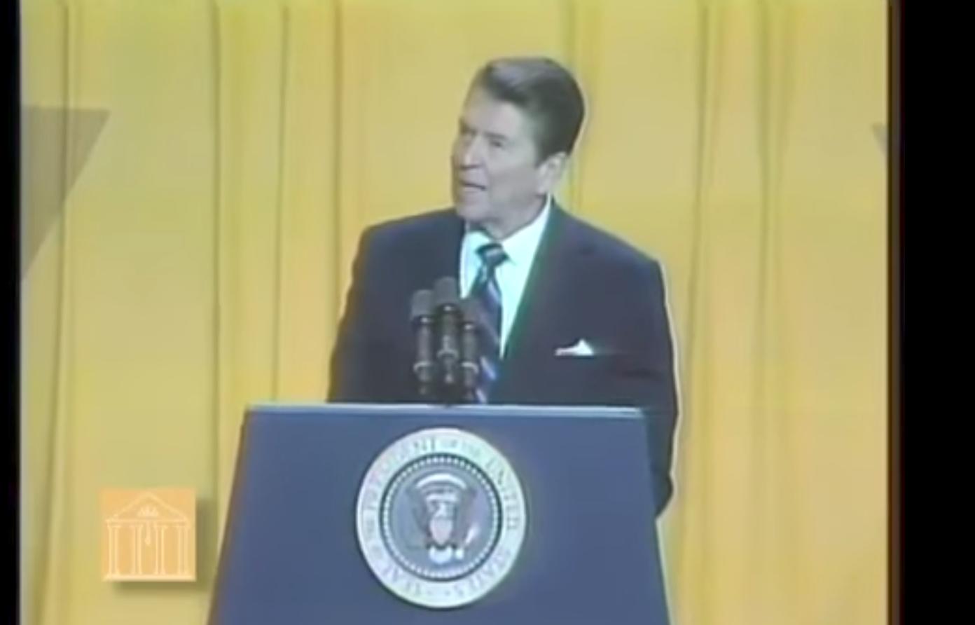 Flashback: Ronald Reagan's powerful rebuke of hate groups