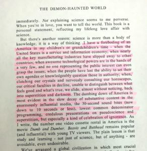 Carl Sagan predicted 2017 on page 40 of The Demon Haunted World. Published in 1996