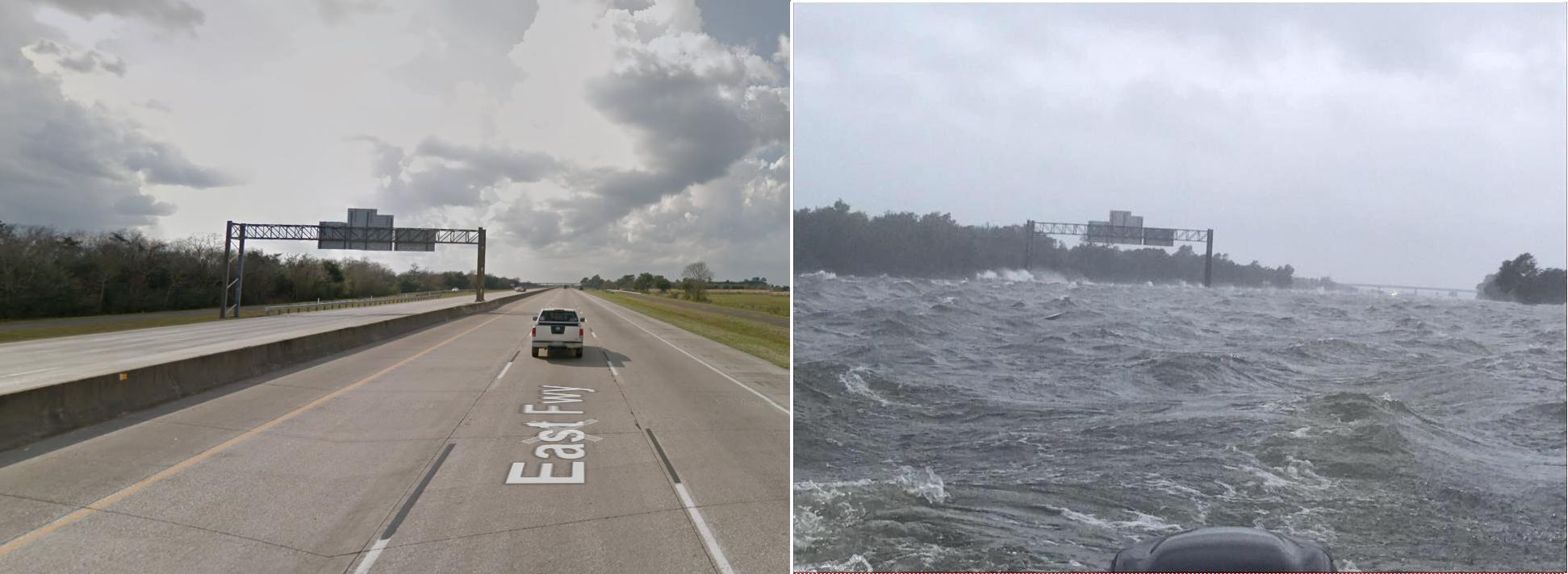 I-10 Freeway in Winnie, TX